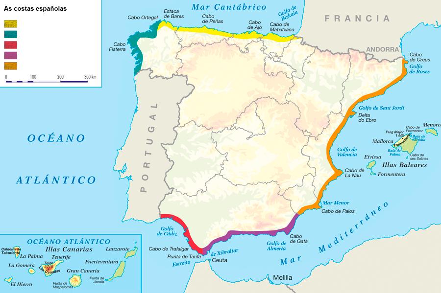 Mapa de la costa mediterranea webcam